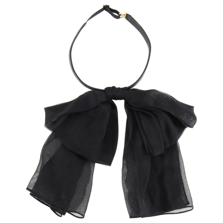 Saint Laurent Spring 2013 Black Silk Bow Neck Tie