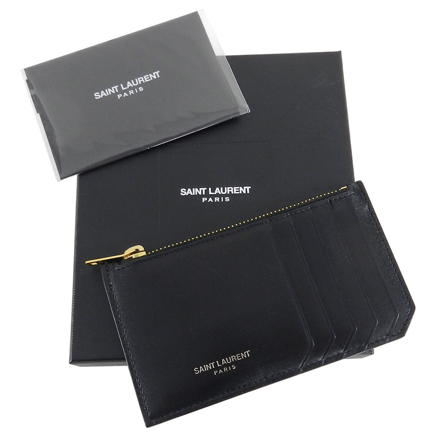Saint Laurent Fragments Black Zip 5 Card Holder