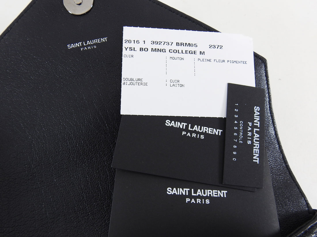 Saint Laurent College Medium Logo Chain Bag All Black