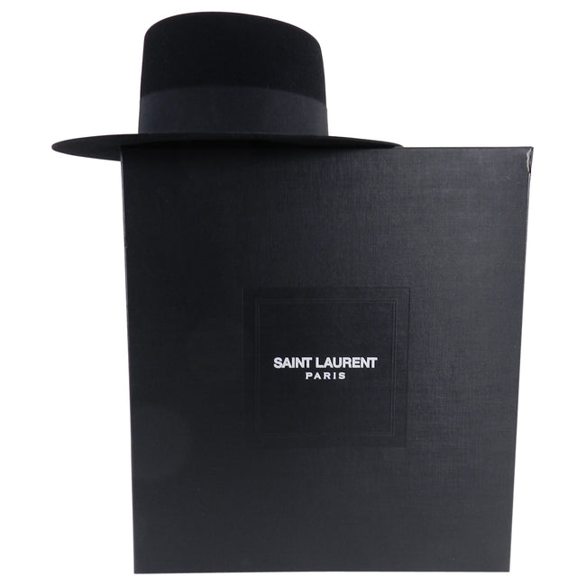 YSL Saint Laurent Spring 2015 Runway Black Felt Hat