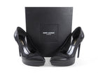 Saint Laurent Janis 105 Flash Black Leather Pumps - 37