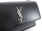 Saint Laurent Black Smooth Leather Sunset Medium Bag