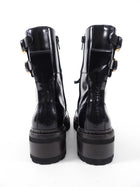 See by Chloe Black Ankle Lace Up Combat Boots - 36.5