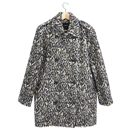 Smythe Animal Pattern Double Row Buttons Coat - M