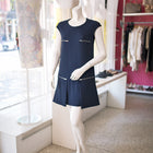 Stella McCartney Navy Sleeveless Dress with Silvertone Zippers - 6