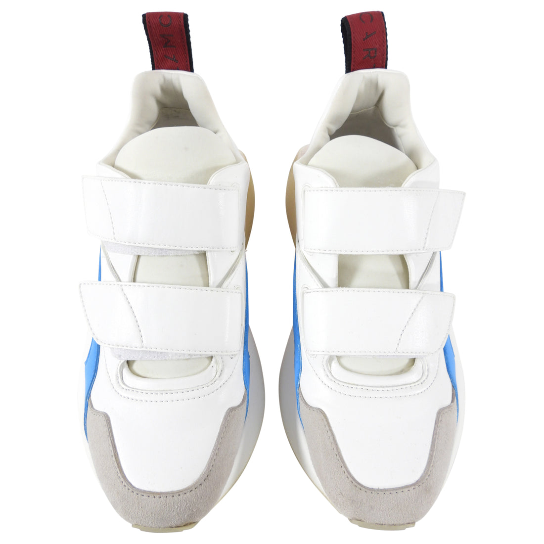 Stella McCartney White, Red, Blue Chunky Sneakers - USA 6.5