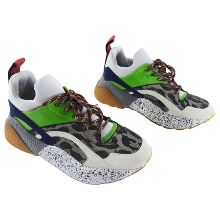Stella McCartney Leo Chunky Grey and Green Sneakers - 37