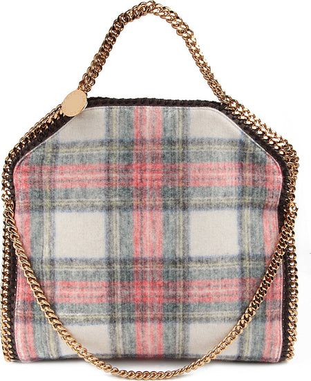 Stella McCartney Falabella Plaid Check Bag with Gold Chain