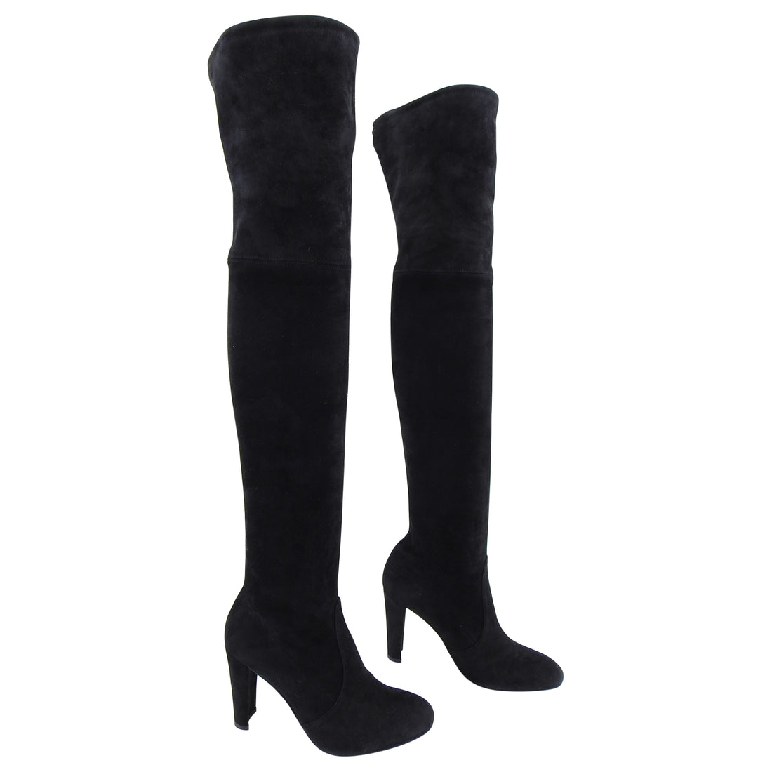 Stuart Weitzman Highline Over the Knee Black Suede Tall Boots - 6.5