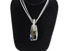 Swarovski Large Crystal Faceted Pedant Multi Chain Necklace