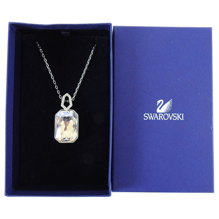 Swarovski Crystal Art Deco Style Pendant Drop Necklace