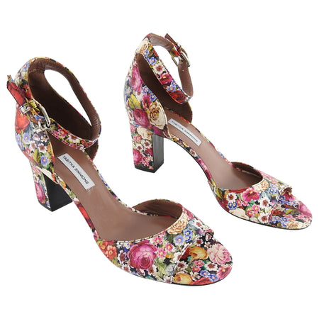 Tabitha Simmons Jerry Flower Print Ankle Strap Sandals - 40