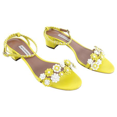 Tabitha Simmons Folie Daisy Yellow Flower Sandals - 40