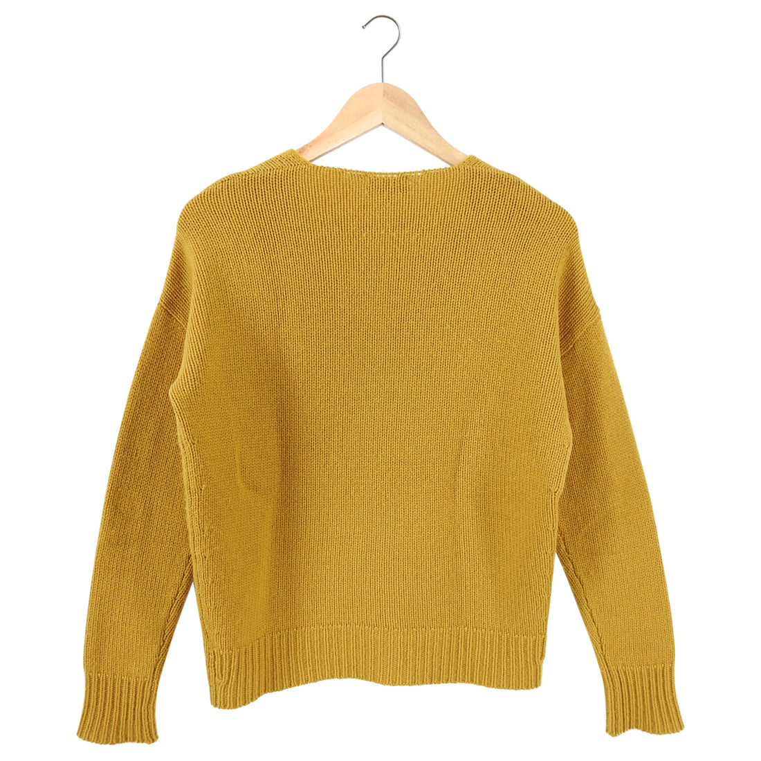 Theory Mustard Yellow Cashmere V neck Sweater - S
