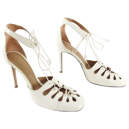 The Row Ivory Lace Up High Heel Sandals - 9.5