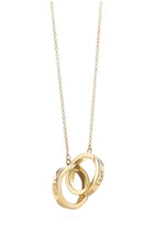 Tiffany and Co.  18k Gold Interlocking Circles Pendant Necklace