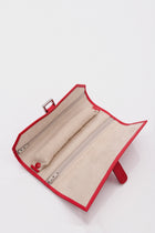 Tiffany and Co Red Leather Jewelry Travel Roll