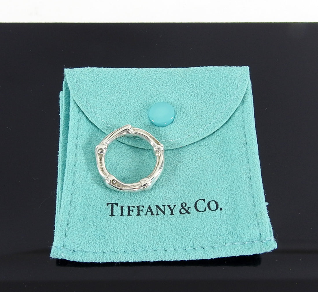 Tiffany and Co. Sterling Silver 1996 Vintage Bamboo Ring - 6