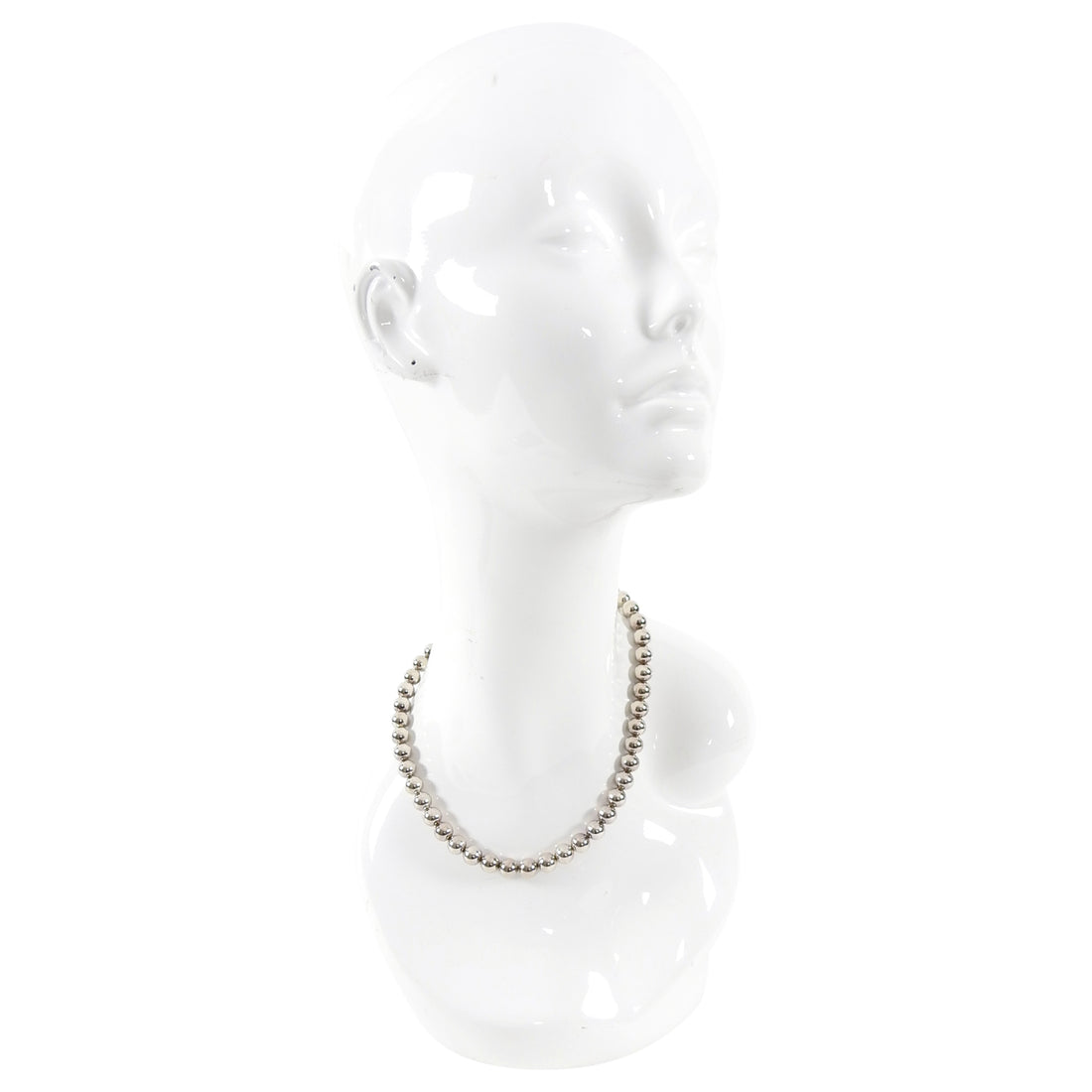Tiffany and Co. Hardwear Sterling Silver Ball Bead Necklace