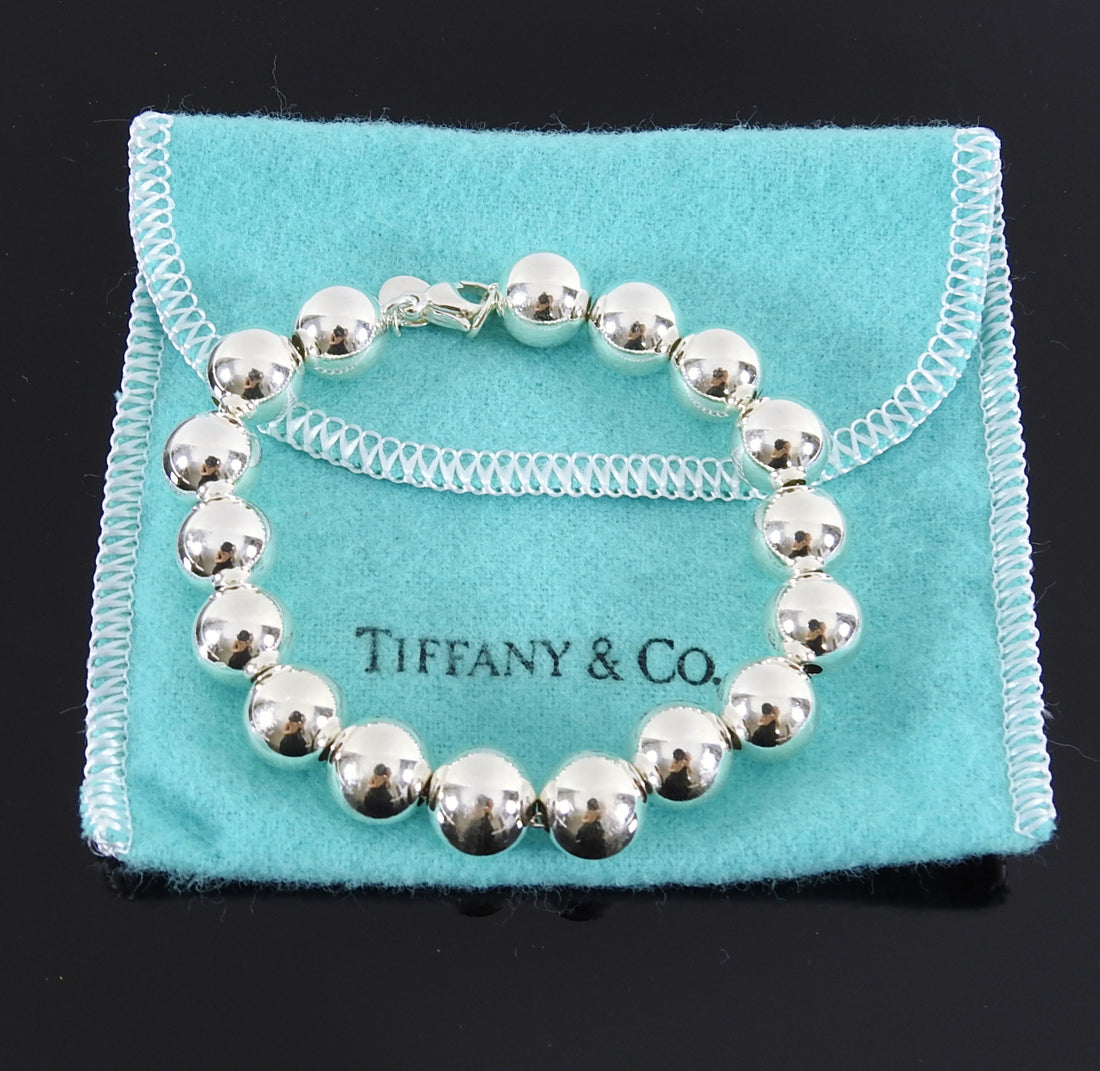 Tiffany and Co Sterling Silver 10mm Ball Bracelet