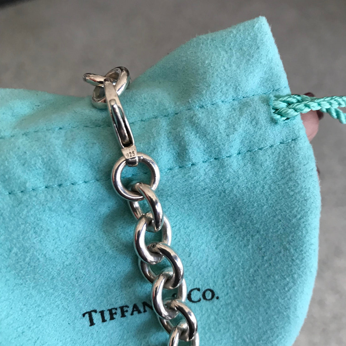 Tiffany and Co. Sterling Silver Heavy Chain Link Choker Necklace