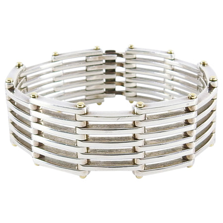 Tiffany & Co. Sterling Silver and 18k Yellow Gold Gate Bracelet
