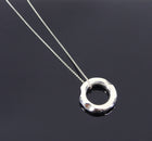 Tiffany and Co. Frank Gehry Sterling Tube Ring Pendant Necklace
