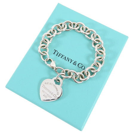 Tiffany Return To Tiffany Heart Tag Charm Bracelet Sterling Silver - XS