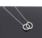 Tiffany and Co.  Sterling Silver Interlocking Circles Pendant Necklace