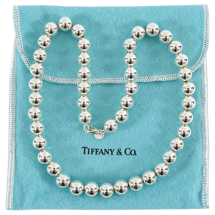 b4f5cdaf7 Tiffany and Co Sterling Silver Hardwear Ball Necklace – I MISS YOU ...