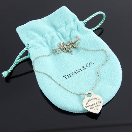Tiffany and Co. Sterling Silver Heart Peandant Necklace