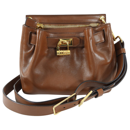 Tom Ford Cognac Smooth Leather Crossbody Bag