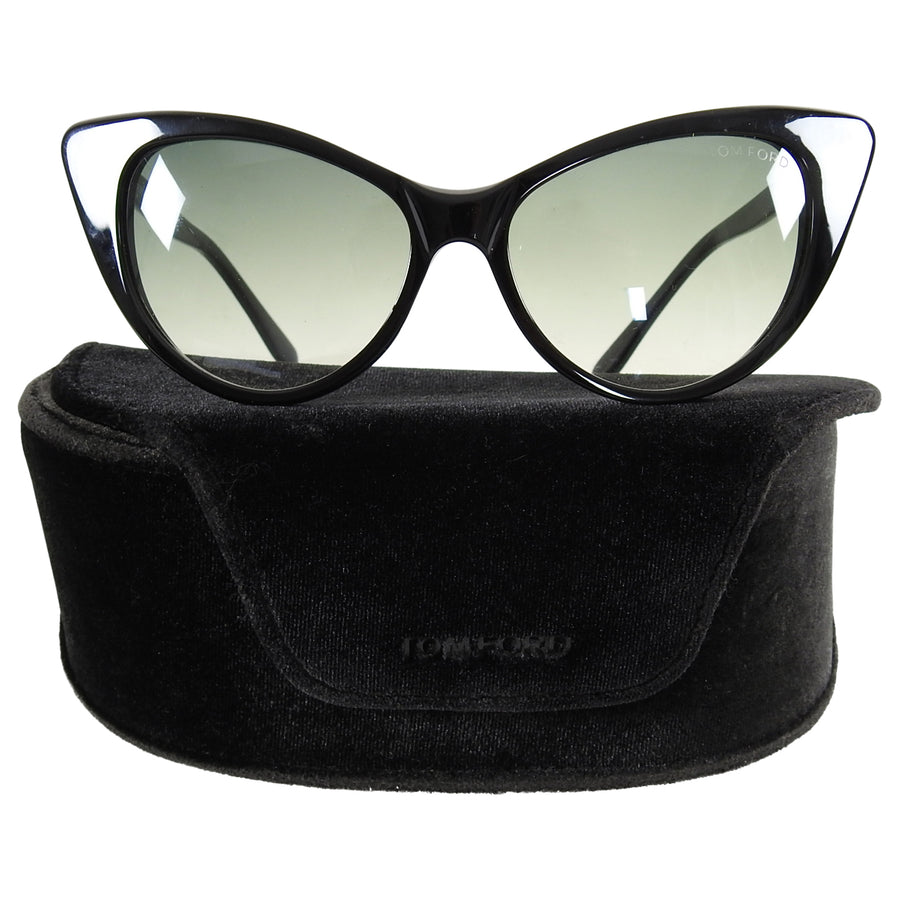 Tom Ford Nikita Black Cat Eye Sunglasses RF173