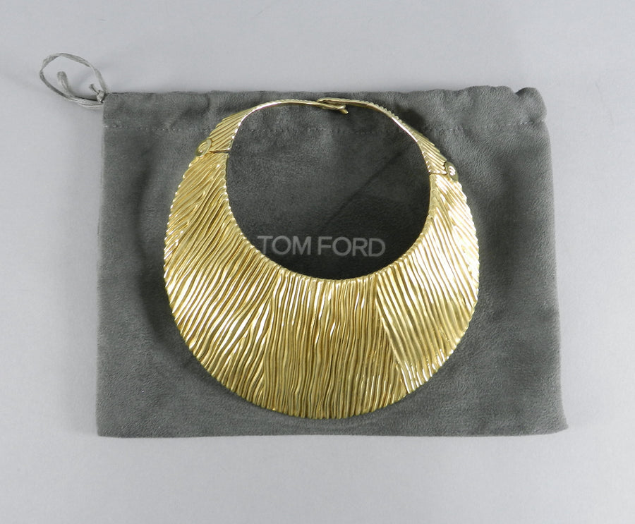 Tom Ford Huge Sterling Vermeil Statement Collar Necklace