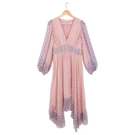 Ulla Johnson Pink Silk Chiffon Boho Dress - 4