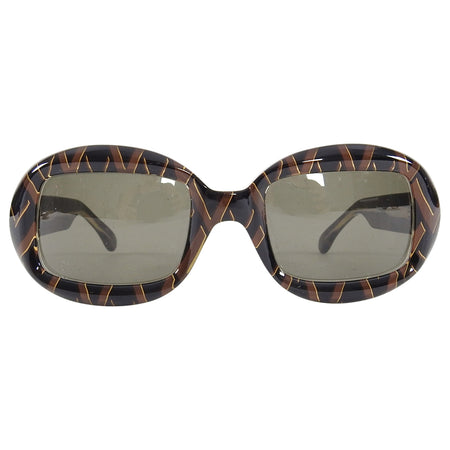 Valentino Vintage Brown V Logo Sunglasses 5009