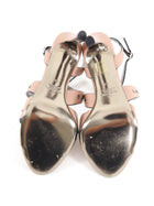 Valentino Dark Nude Strappy Jewel Embellished Sandals Heels - 38 / 7.5