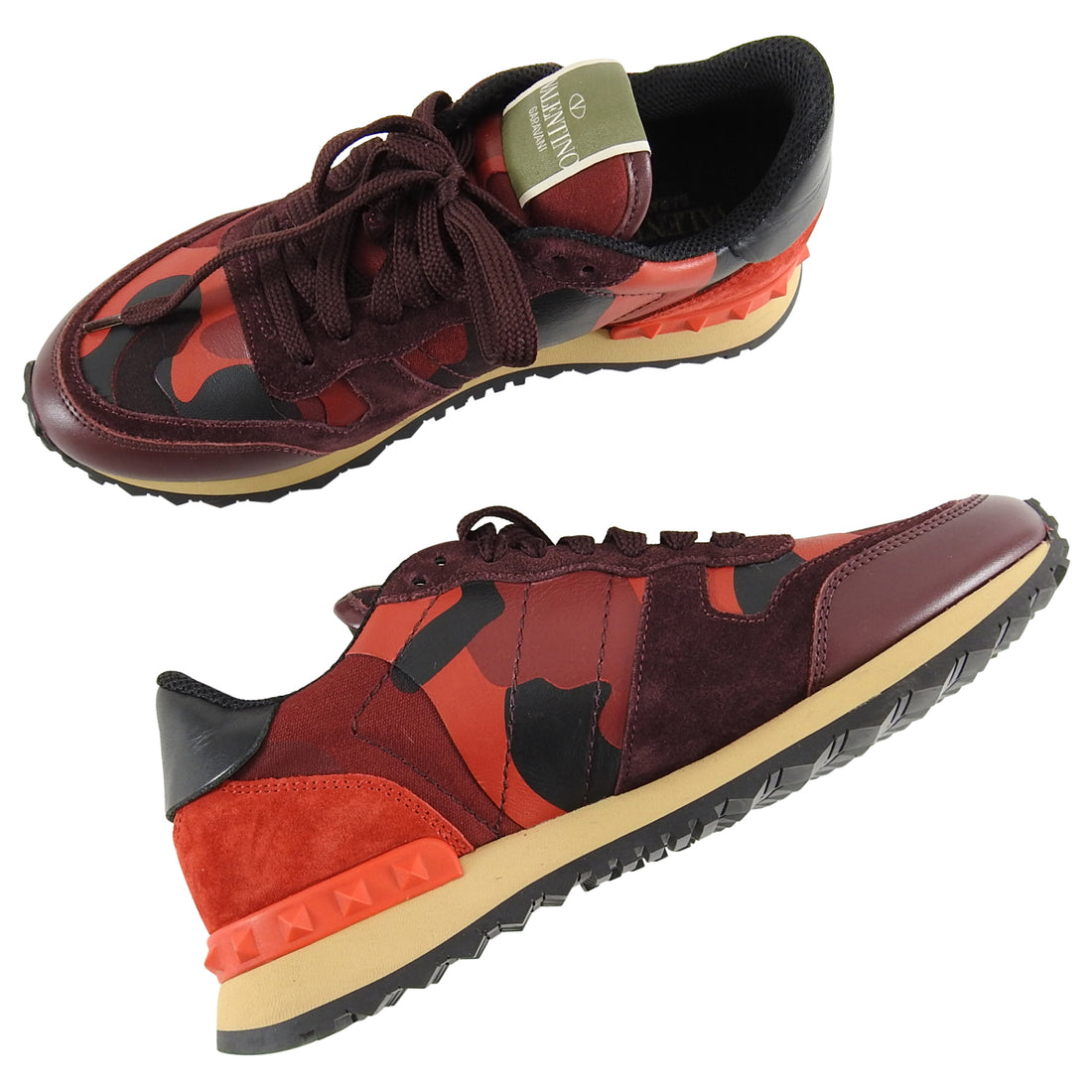 Valentino Red Camouflage Rock Runner Sneakers - 37