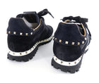 Valentino Black Rock Stud Rockrunner Sneakers with Gold Studs - 37