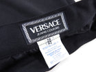 Vintage Gianni Versace Black Wool High Waist Pencil Skirt with Gold Studs - S