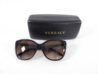 Versace Black Sunglasses with Gold Studs at Arms
