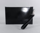 Versace Color Block Leather Wristlet Clutch Bag