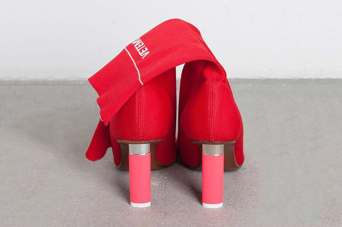 Vetements Red Lighter Stretch Logo Sock Boots - 37
