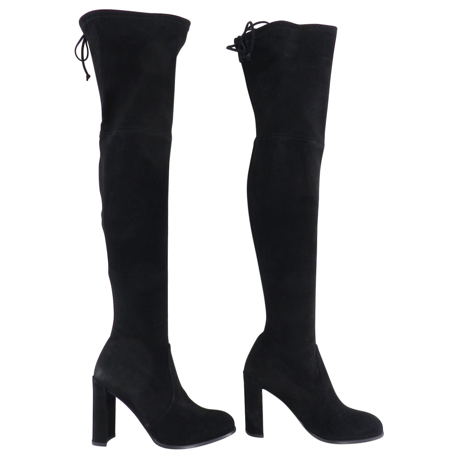 Stuart Weitzman Black Stretch Over the Knee Hiline Boots - 8