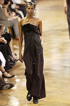 Yohji Yamamoto Spring 2003 Black Jumpsuit with Chain Strap Detail