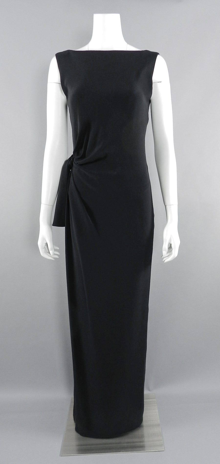 Yves Saint Laurent Vintage AW 1998 Haute Couture Black Low Back Evening Gown