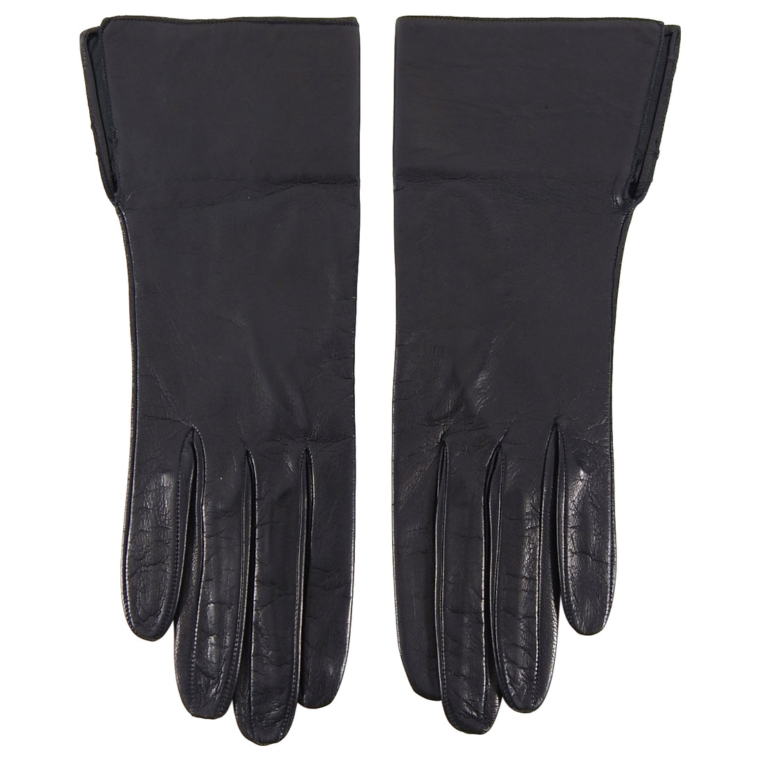 YSL Yves Saint Laurent Vintage Black Leather Gloves