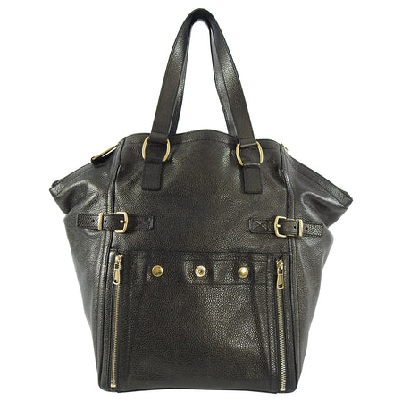 YSL Yves Saint Laurent Dark Bronze Downtown Tote Bag