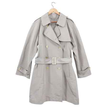 Yves Saint Laurent Haute Couture Light Taupe Trench Rain Coat - MYves Saint Laurent Haute Couture Light Taupe Trench Rain Coat - M