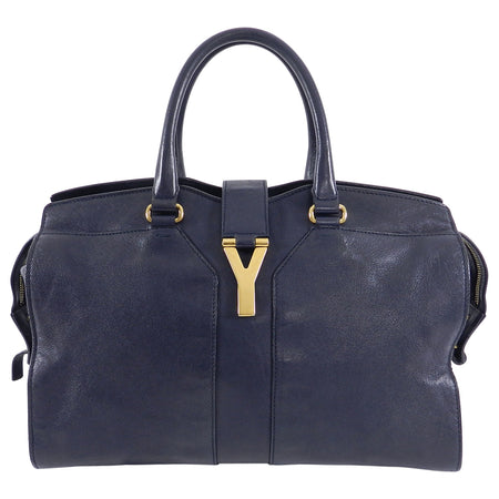 YSL Yves Saint Laurent Midnight Navy Y Line Bag